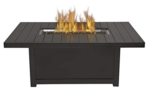 Napoleon Grills St. Tropez Rectangle Patioflame Table, Rustic Bronze (Pit Patioflame Outdoor Fire)