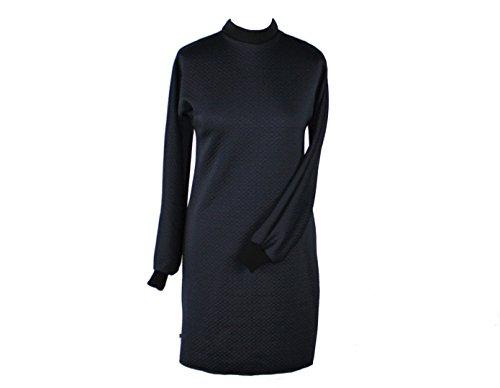 Cloque dunkle Langarm Kleid Schwarz design Jersey t8U0qaxUw