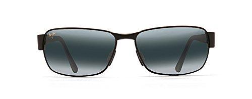 Maui Jim Black Coral 249-2M Polarized Rectangular Sunglasses,Matte Black Frame/Neutral Grey Lens,One - Jim Maji