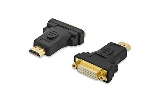 Ednet 84491 adaptateur et connecteur de câbles HDMI DVI-I Noir