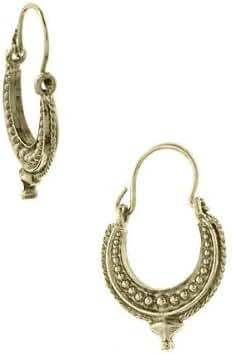 1928 Jewelry Gold Shiva Goddess Hoop Earrings