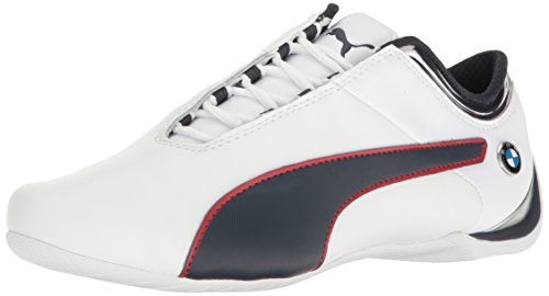 PUMA Men's BMW MS Future CAT MU Walking Shoe, White-Team Blue-High Risk Red, 7.5 M US