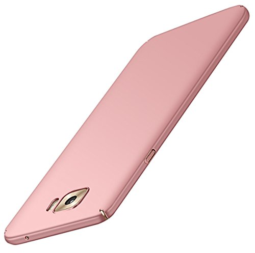 JEPER Coque Samsung Galaxy C7, Dur PC Fini Mat Protection Intgrale Ultra Mince Anti-Rayures Anti-Choc Case Housse pour Telephone Galaxy C7 5.7 Pouces Rose Or