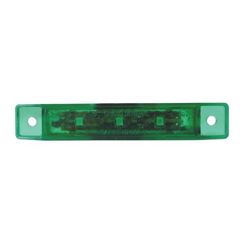GG Grand General 76136 3.5 Inch L Ultra Thin Green Led Light with Clear Pl Bezel
