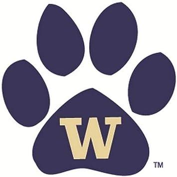 University Of Washington Huskies >> Amazon Com 3 Inch Paw Uw W University Of Washington Huskies Logo