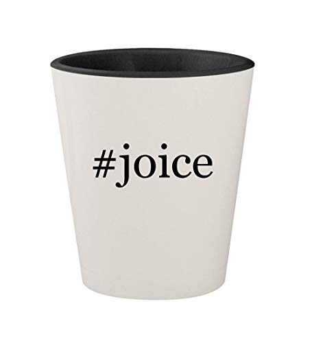 (#joice - Ceramic Hashtag White Outer & Black Inner 1.5oz Shot Glass)