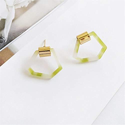 - ESCYQ Women Earring Studs Earring Drop Earrings Ear Line Light Green Earrings Fashion Simple Ideas Irregular Geometrical Personality Foundation Stud Earrings Earrings