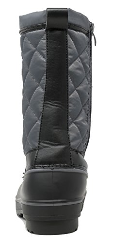 Boots Calf Mid DP Grey PAIRS Snow h Fur DREAM Faux Canada Womens Winter Lined P4wECq