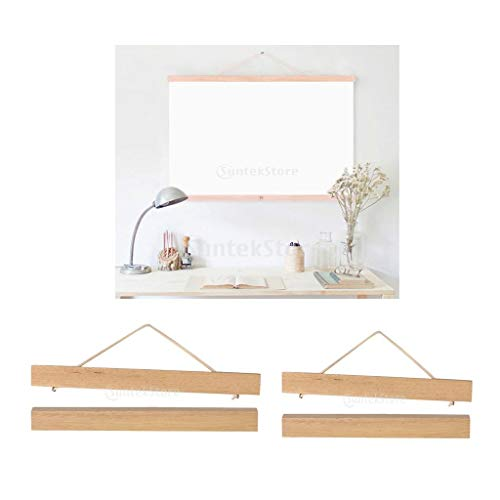 - Glass figurines Picture Frame - 2Pcs Magnet Wooden Picture Frame DIY Photo Poster Painting Hanger Ramin Wood 21cm+30cm