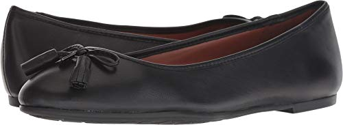 Coach Women's Bea Leather Flat Black 6 M Us