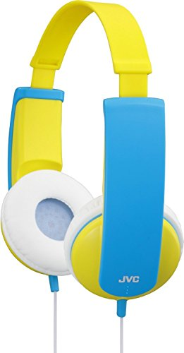 JVC Kids Headphones with Volume Limiter - Yellow and Blue