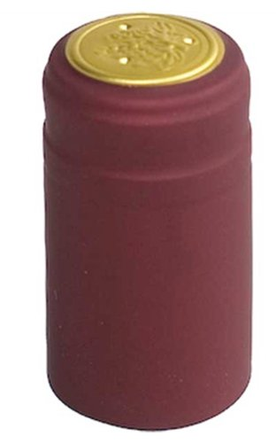 PVC Heat Shrink Capsules With Tear Tabs For Wine Bottles - 120 Count (Burgundy)