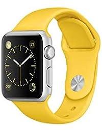Pulseira Sport Tamanho Feminino Amarelo Compativel com apple watch de 38mm e 40mm