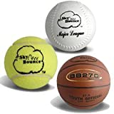 Sky Bounce Reaction Balls for Agility and Coordination Training 72mm Size (Pack of 6 Assorted Color Balls)