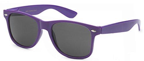 Sunglasses Classic 80's Vintage Style Design - Purple Women Sunglasses