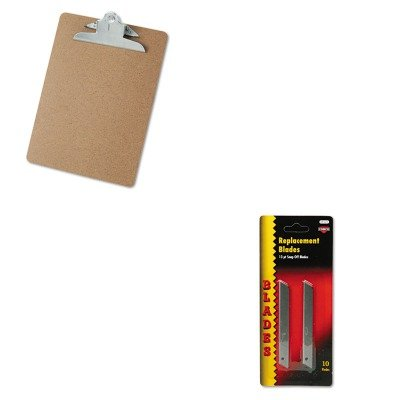 Quickpoint Snap Off Straight Handle (KITCOS091473UNV40304 - Value Kit - Cosco QuickPoint Snap-Off Straight Handle Retractable Knife Replacement Blade (COS091473) and Universal 40304 Letter Size Clipboards (UNV40304))
