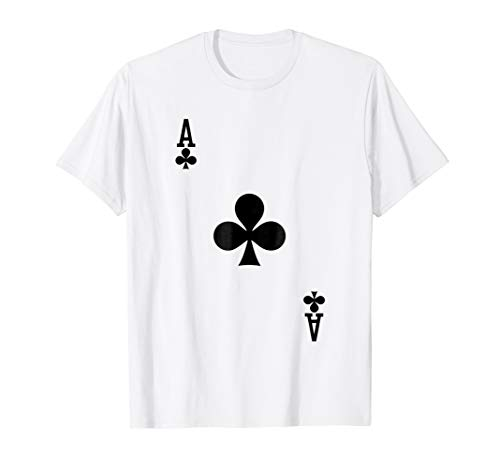 Ace of Clubs Costume Tshirt Halloween Deck of Cards -