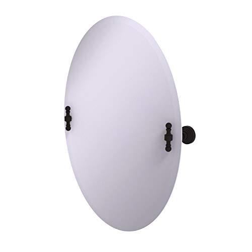 Allied Brass RW-91 Frameless Oval Tilt Beveled Edge Wall Mirror, Oil Rubbed - Mirrors Brass Tilt Frameless Beveled Allied Bathroom Oval