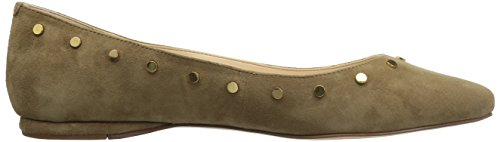 Nine West Women's Sigimonda Suede Ballet Flat Green UHYWbCTLny