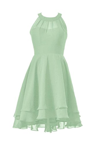 Dress Bridesmaid High CST2225 Dress Prom Green 32 Halter DaisyFormals sage Short Low Chiffon tFwyUa