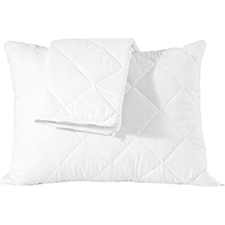 Niagara Sleep Solution 4 Pack Waterproof Pillow Protectors Queen 20x30 Inches Life Time ReplacementSmooth Zipper Premium Encasement Covers Quiet Cases Set White