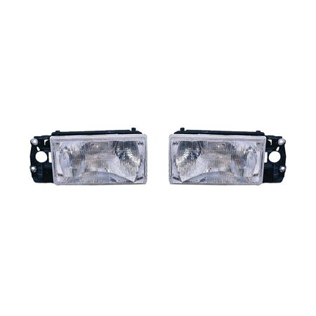 Fits Volvo 740 1990-1992/940 1991-1995 Headlight Assembly Pair Driver and Passenger Side w/o Foglight VO2502106, VO2503106 ()