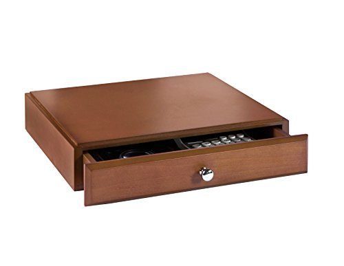 Bindertek Stacking Wood Desk Organizers Supply Drawer, Cherry (Stacking Supply Drawer)