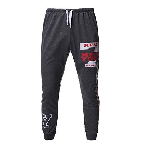(Transser Men's Pants Expandable Waist Sportpants Joggings Cotton Absorbing Basketball Leisure Athletics Pants)