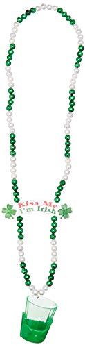 Forum 69726 Bead Shot Glass Kiss Me I'M Irish Party Supplies, One ()
