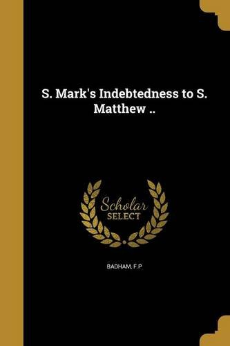 S. Insigne's Indebtedness to S. Matthew ..