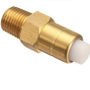 "Homelite 678169004 Pressure Washer Replacement 1/4"" Heavy Duty Brass Thermal Release Valve"