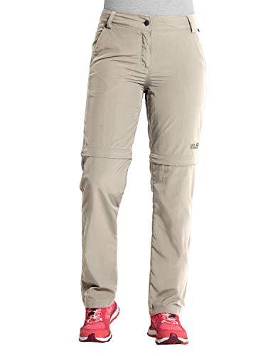Jack Wolfskin Women's Marrakech Zip Off Women's Travel Pants with UV Protection, Light Sand, 21 (U Small 33/30)