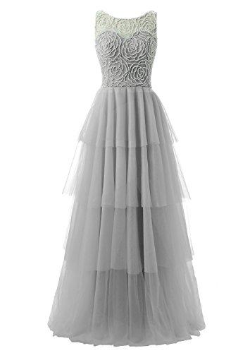 V Long Back Beaded Dark Gray Sheer Prom with Dresses Juniors for Neck Callmelady UwqzS6Rn