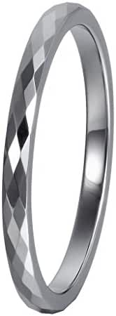 L-Ring Tungsten Wedding Ring in Comfort Fit Couple Rings Mens Womens Tail Ring Thumb Ring, Size 4-10