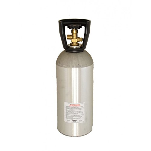 - NEW 10 LB EMPTY CO2 ALUMINUM CYLINDER TANK CGA 320 VALVE WITH CARRY HANDLE
