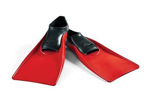 Long Floating Fin 9 11 Black Red