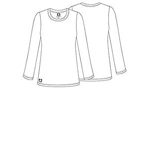 Adar Womens Comfort Long Sleeve T-Shirt Underscrub Tee - 2900 - Black - S