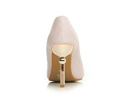 Mat doudoune chaussures à talons hauts bouche superficielle grande fleur diamant chaussures de cour décoration , pink , 38