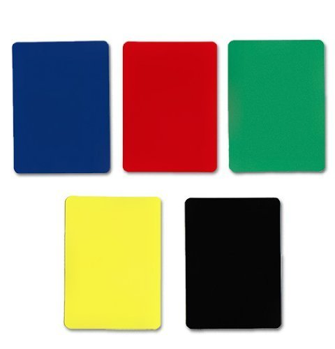 Brybelly Bridge Size Cut Cards-Pack of 5, Assorted Color (Cut Card)