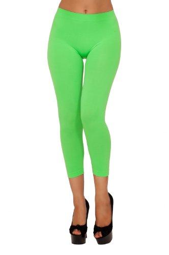 Womens Slim Fit Active Spandex Elastic Waist Capri Cropped Workout Leggings