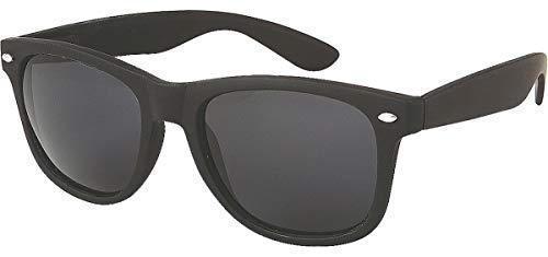 Retro Style Sunglasses Classic 80's Vintage Style Design (Black ()