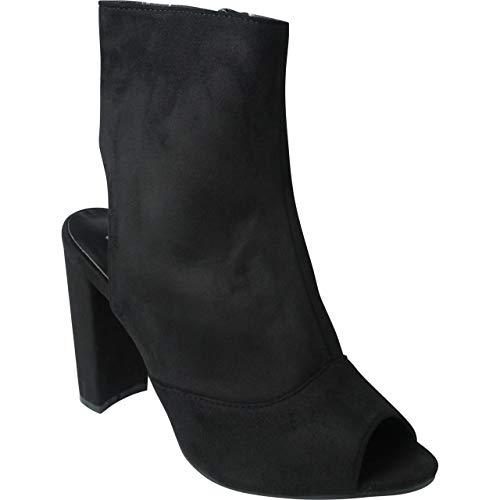 Femmes Talon Haut Noir Fille Lateral Zip Bemeesh Chaussures Escarpins Cheville wvxnUSa