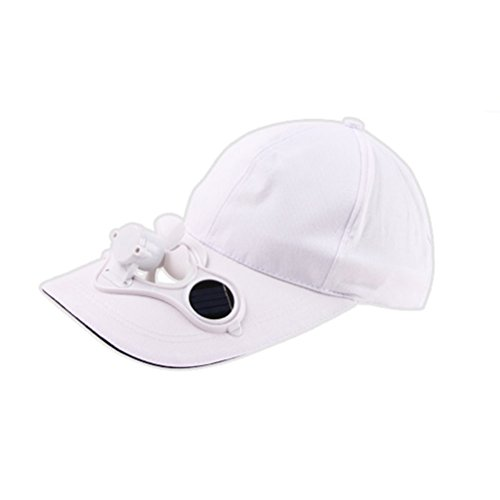 (NicSO Unisex Unique Solar Powered Air Fan Cooled Baseball Hat for Outdoor Eco Friendly)