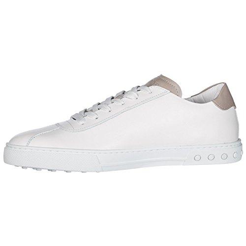Tod's Scarpe Sneakers Uomo in Pelle Nuove Bianco Comprar Barato Popular dWxEx