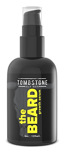 Tombstone The Beard Growth Enhancing Serum - Grow Richer, Fuller, Longer Looking and Softer Facial Hair - Best for Beard Care Products - Looking Best Facial Hair