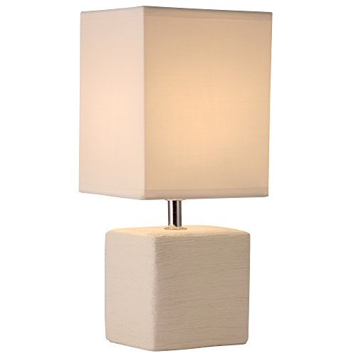 Side Wall Lamp Shades : Light Accents Table Lamp Side Table Lamp With Square Fabric Shade Off White eBay