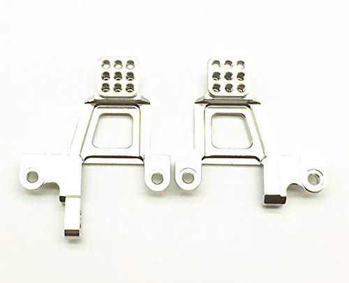 Treal Alloy Front Shock Towers (Left and Right) for Traxxas TRX-4 Crawler RC Car - Silver