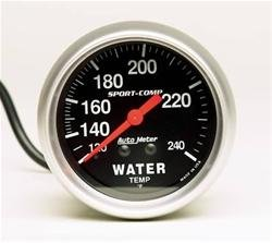 AUTO METER 3432 Sport-Comp Water Temperature 120-240 Degrees F   B01IC69Q3K