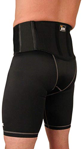 Jox Mens Core and Back Support Compression Shorts with Hot and Cold Therapy
