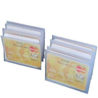 - SET of 2 - 6 Page Plastic Wallet Insert for Bifold Billfold or Trifolds Top Load